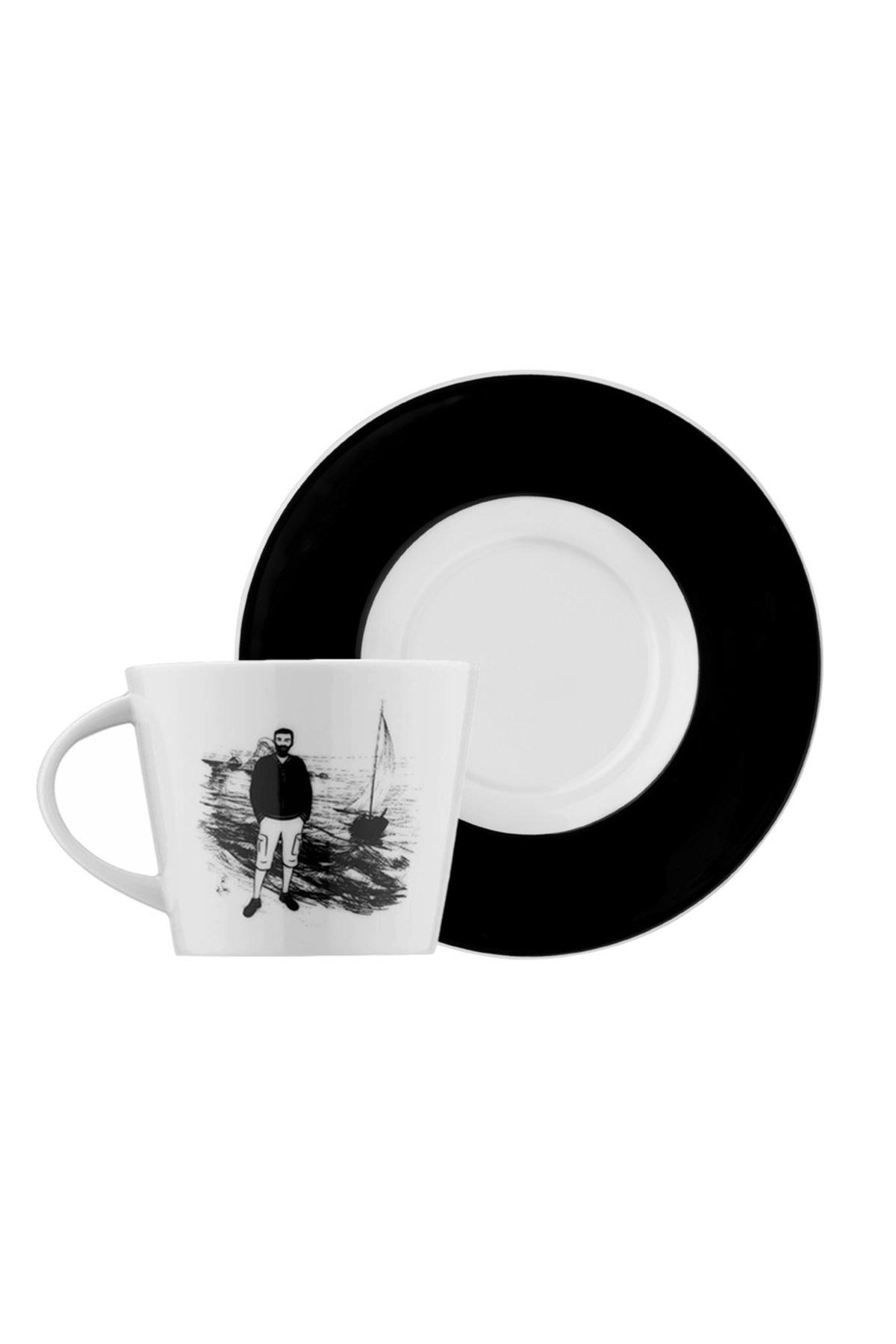 Kütahya Porselen - Kütahya Porselen Centilmen Serisi Kahve Fincan Takımı Yelken