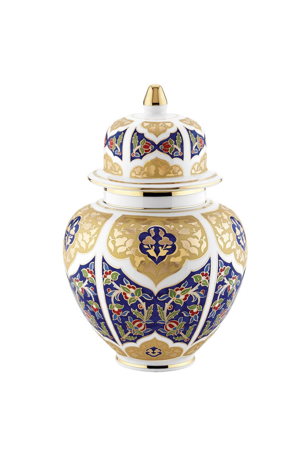 KÜTAHYA PORSELEN - Küpecik Vazo 25 Cm Dekor No:3880