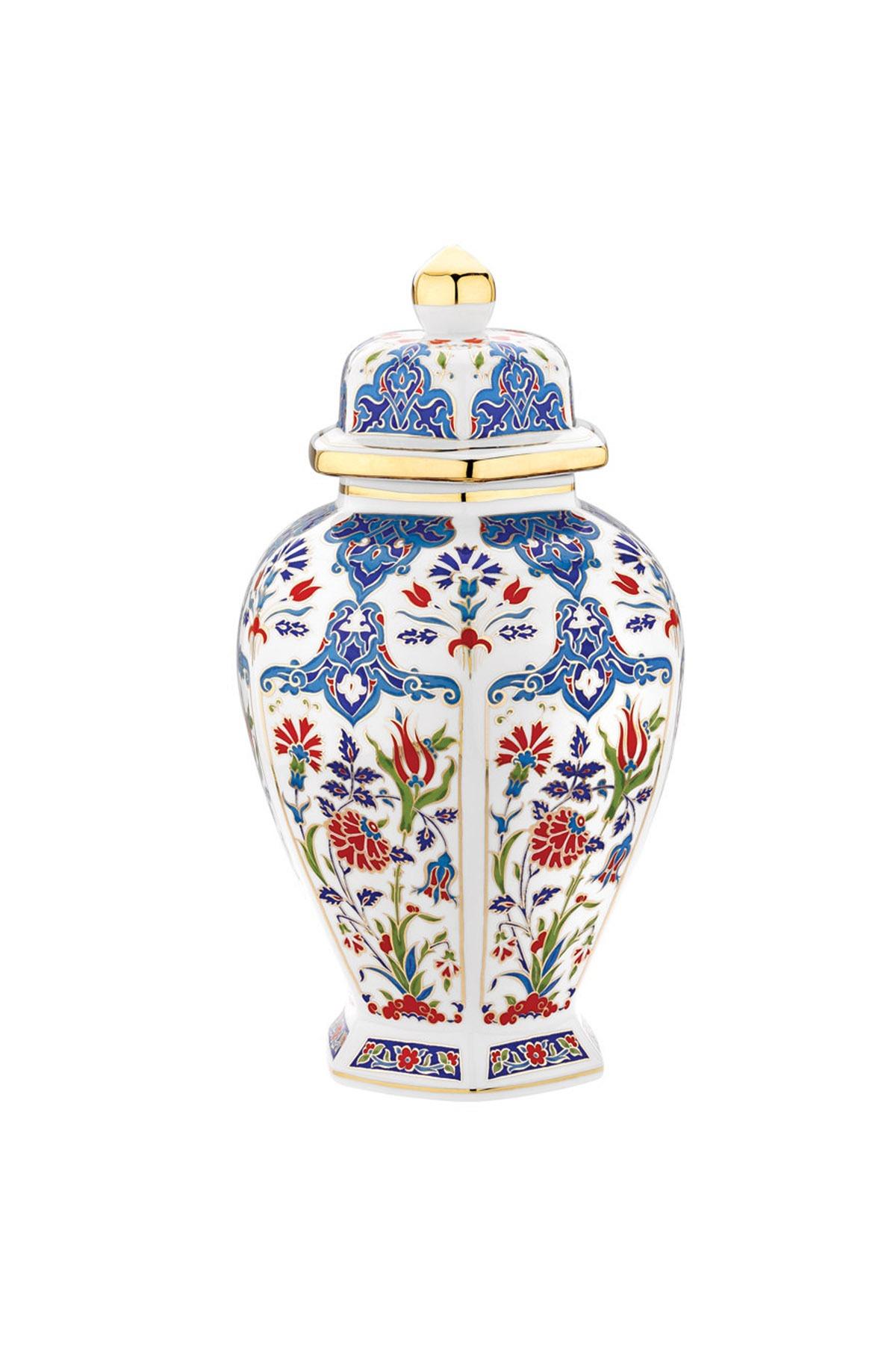 Kütahya Porselen - Kütahya Porselen Sırküpü Kavanoz 30 Cm Dekor No:415