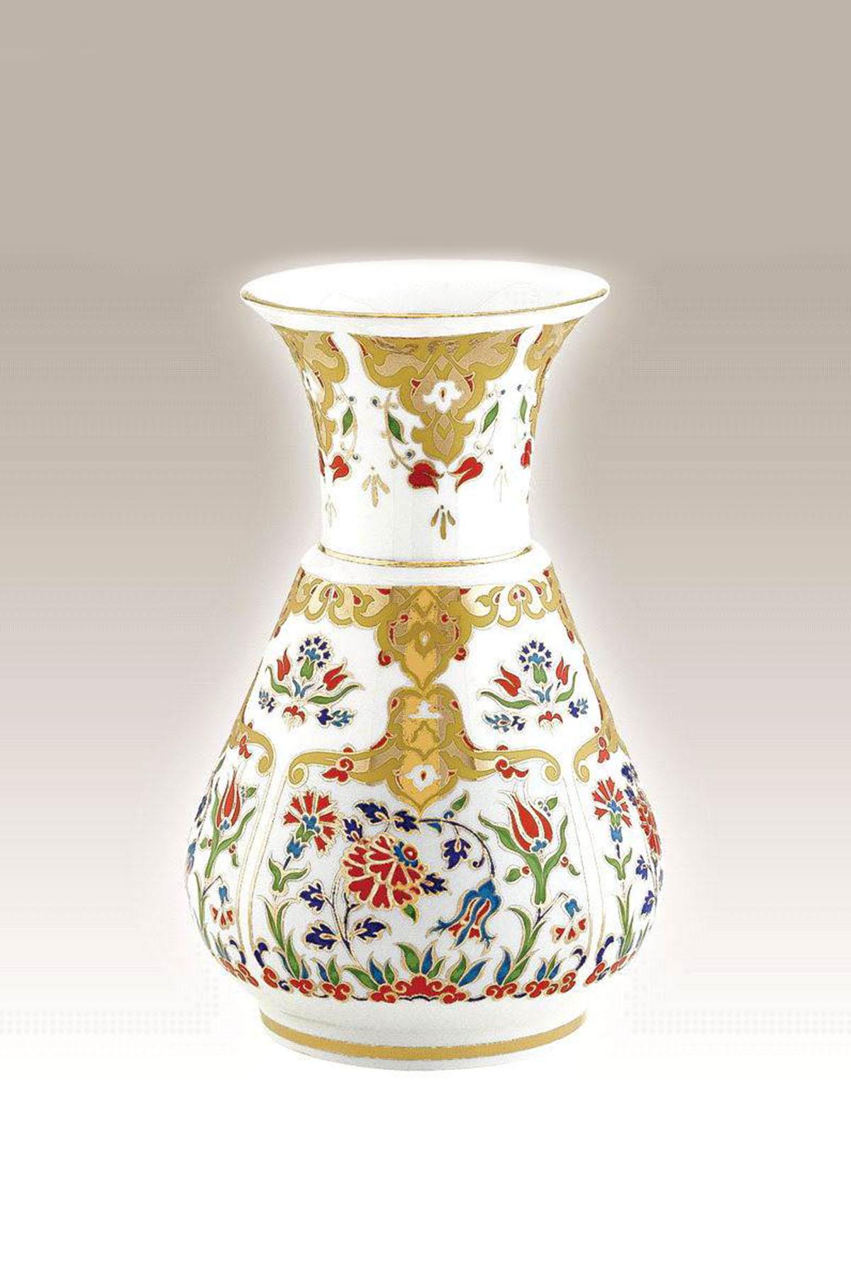 Kütahya Porselen El Yapımı Vazo No 9