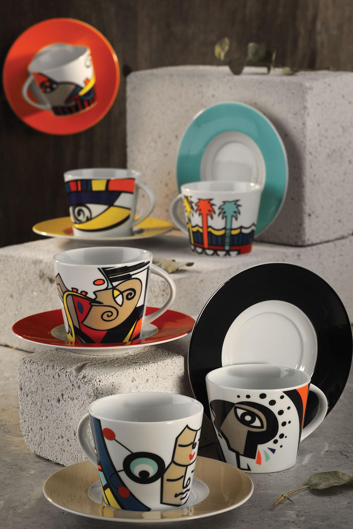 Kütahya Porselen - Kütahya Porselen Free Time Kahve Takımı