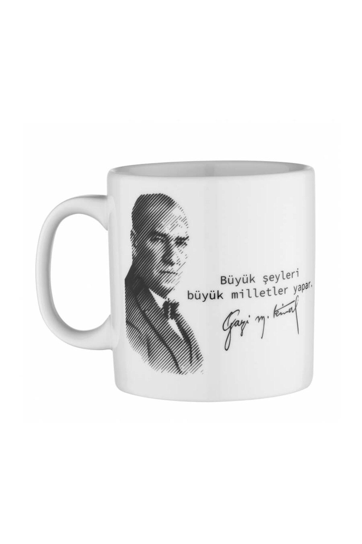 KÜTAHYA PORSELEN - Kütahya Porselen Mug Bardak Special Coll. Atatürk 10429