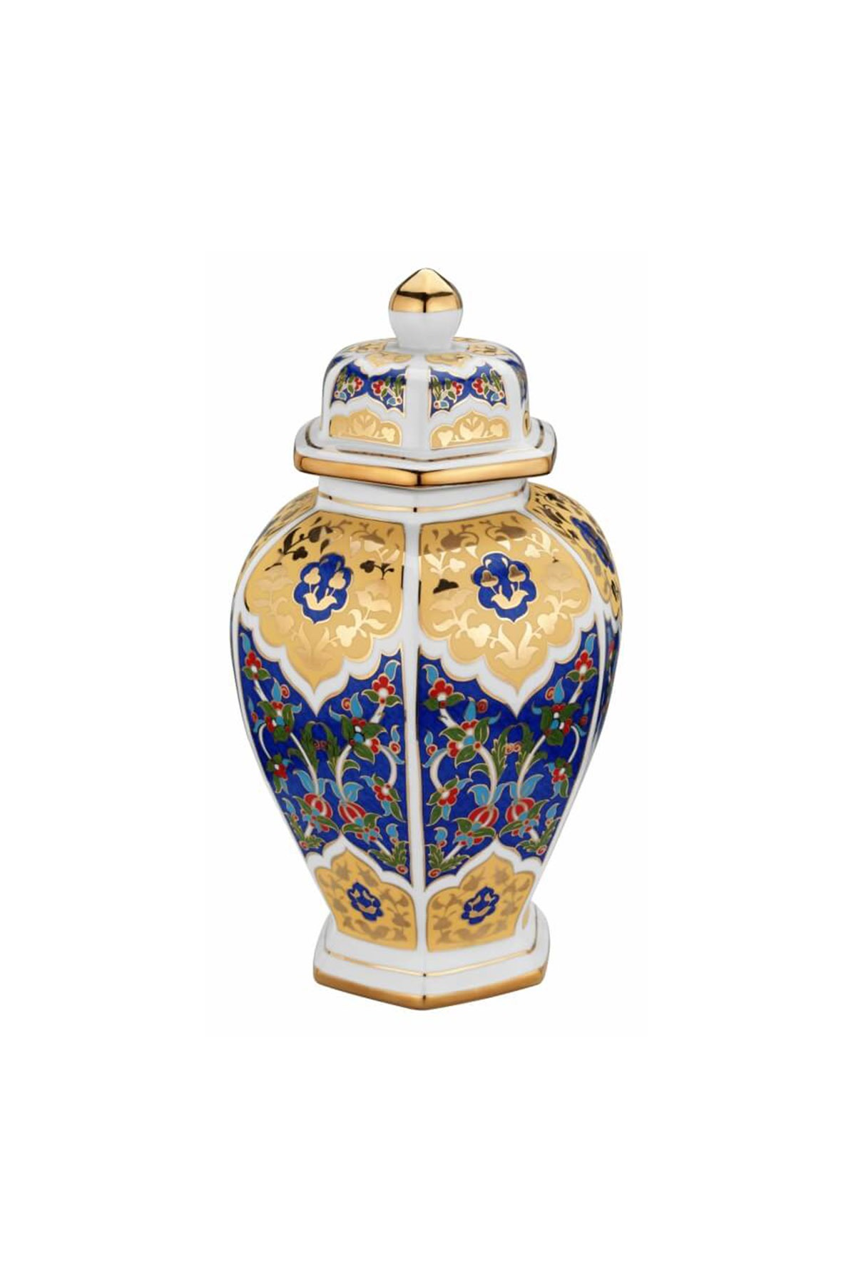 Kütahya Porselen Sırküpü Kavanoz 30 Cm Dekor No:3880